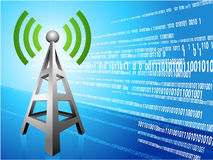 Digital Radio tower wave modern Background Royalty Free Stock Image