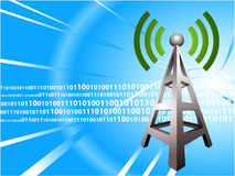Digital Radio tower wave modern Background Royalty Free Stock Images