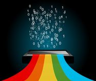 Digital rainbow vector Royalty Free Stock Image