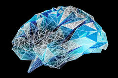 Digital x-ray human brain 3D rendering Royalty Free Stock Images