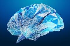 Digital x-ray human brain 3D rendering Stock Photo