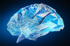 Digital x-ray human brain 3D rendering Royalty Free Stock Image