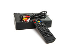 Digital Receiver With Remote Control Royalty Free Stock Photos