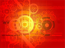 Digital red abstract background Stock Photo