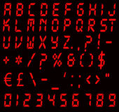 Digital Red Alarm Font Stock Photography