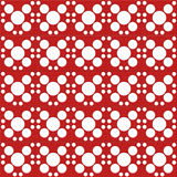 Digital red color and white circles paper Royalty Free Stock Photo