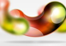Digital techno abstract background, grey 3d space with glass curvy bubble Stock Photography