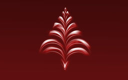 Digital red tree Royalty Free Stock Image