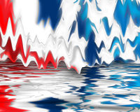 Digital red white and blue. Computer generated abstract read white and blue background vector illustration