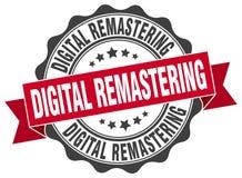 digital remastering seal stock illustration