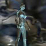Digital Rendering of the female human Anatomy Royalty Free Stock Photos