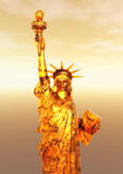 Digital Rendering of the Statue of Liberty Stock Image