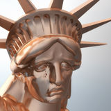 Digital Rendering of the Statue of Liberty Royalty Free Stock Photography
