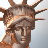 Digital Rendering of the Statue of Liberty Stock Photography