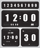 Digital retro clock and calendar Royalty Free Stock Photography