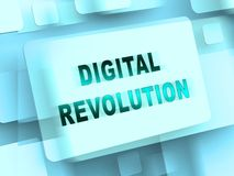 Digital Revolution Concept Futuristic Industry 3d Rendering. Shows Innovation Improvement And Transition Of Network Data stock illustration