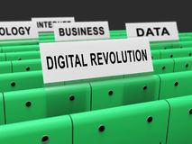 Digital Revolution Concept Futuristic Industry 3d Rendering. Shows Innovation Improvement And Transition Of Network Data royalty free illustration