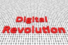 Digital revolution. In the form of binary code, 3D illustration stock illustration