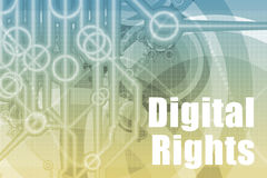 Digital Rights Abstract. Background in Blue Color Stock Photos