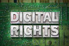 Digital rights green pc board Stock Images