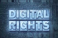 Digital rights pc board Stock Photos