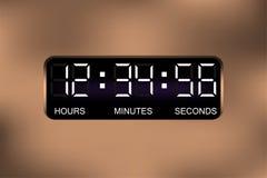 Digital ringklocka Tid skärm Digital klocka också vektor för coreldrawillustration EPS10 Royaltyfria Bilder