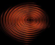 Digital ripples. Digital made reddish ripples at the black background Stock Photo