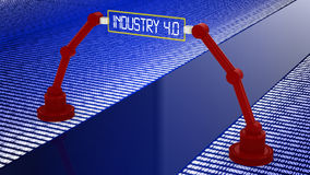 Digital road to industry 4.0 concept Royalty Free Stock Photography