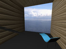 Digital room with a view Royalty Free Stock Photo