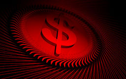 Digital-roter Hintergrund Lizenzfreies Stockfoto