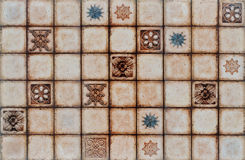 Digital rustic mosaic tile background. Royalty Free Stock Images