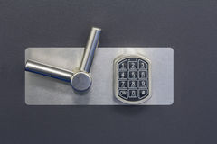 Digital safe lock code on a Safe. Ty box bank stock photo