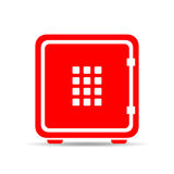 Digital safe vector icon Royalty Free Stock Images