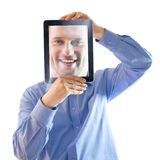 digital salesman Stock Images