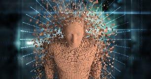 Digital sammansatt bild av den spridda människan 3d Arkivfoto