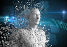 Digital sammansatt bild av människan 3d Royaltyfri Fotografi