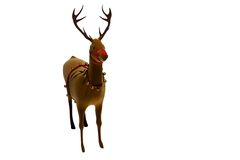 Digital santas reindeer with bells Stock Photos