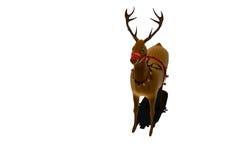 Digital santas reindeer with bells Royalty Free Stock Photography