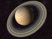 Digital Saturn. Created a digital Saturn in 3d Royalty Free Stock Image