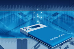 Digital scale Stock Photography