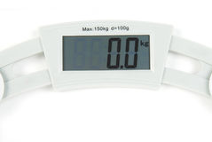 Digital scale. Weighing machine metal digital scale royalty free stock image