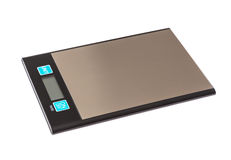 Digital scales on background Stock Photos