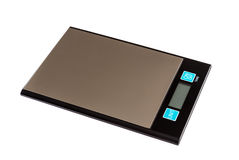 Digital scales on  background Stock Image