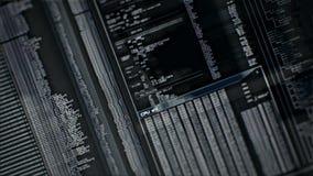 Digital-Schnittstellenschirm stock footage