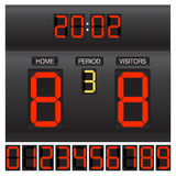Digital score board Royalty Free Stock Photos