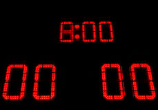 Digital score board Stock Images
