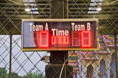 Digital scoreboard Royalty Free Stock Image