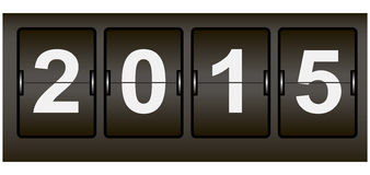 Digital scoreboard the new year Royalty Free Stock Images