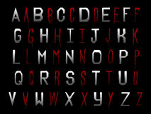 Digital Scrapbook Alphabet Halloween Vampire Trublood Royalty Free Stock Image