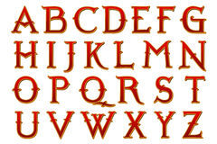 Digital Scrapbook Alphabet Narnia Stock Photo